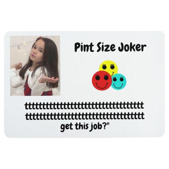 Pint Size Joker: Santa Claus Works 1 Day a Year Floor Mat