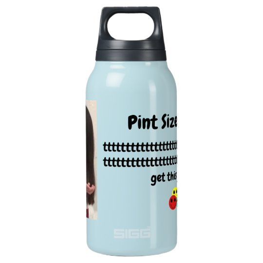 Pint Size Joker: Santa Claus Works 1 Day a Year Insulated Water Bottle
