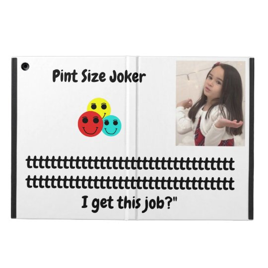 Pint Size Joker: Santa Claus Works 1 Day a Year iPad Air Cover
