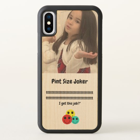 Pint Size Joker: Santa Claus Works 1 Day a Year iPhone X Case