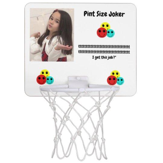 Pint Size Joker: Santa Claus Works 1 Day a Year Mini Basketball Hoop