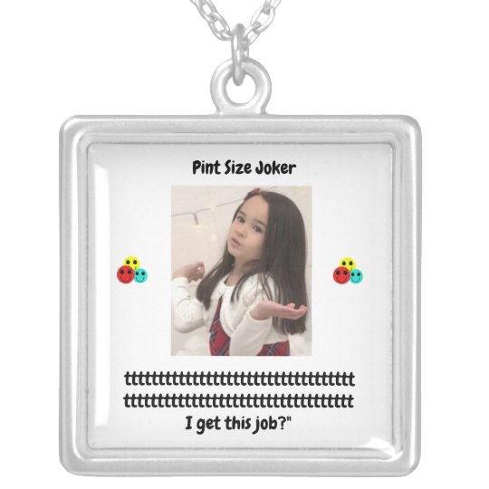 Pint Size Joker: Santa Claus Works 1 Day a Year Silver Plated Necklace