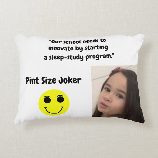 Pint Size Joker: School Sleep-Study Program Accent Pillow