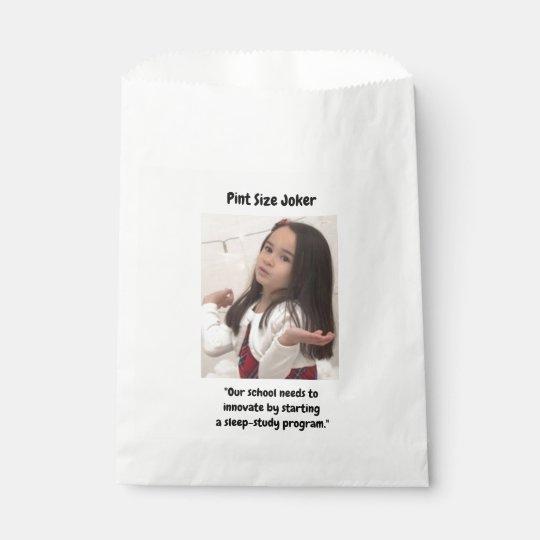 Pint Size Joker: School Sleep-Study Program Favour Bag