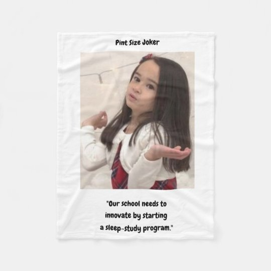 Pint Size Joker: School Sleep-Study Program Fleece Blanket