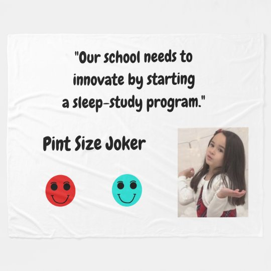 Pint Size Joker: School Sleep-Study Program Fleece Blanket