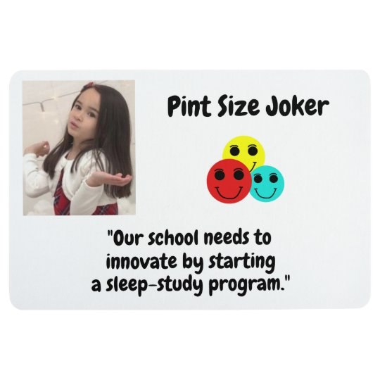 Pint Size Joker: School Sleep-Study Program Floor Mat