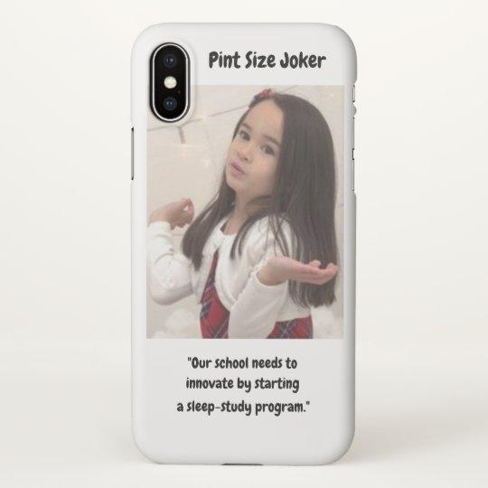 Pint Size Joker: School Sleep-Study Program iPhone X Case