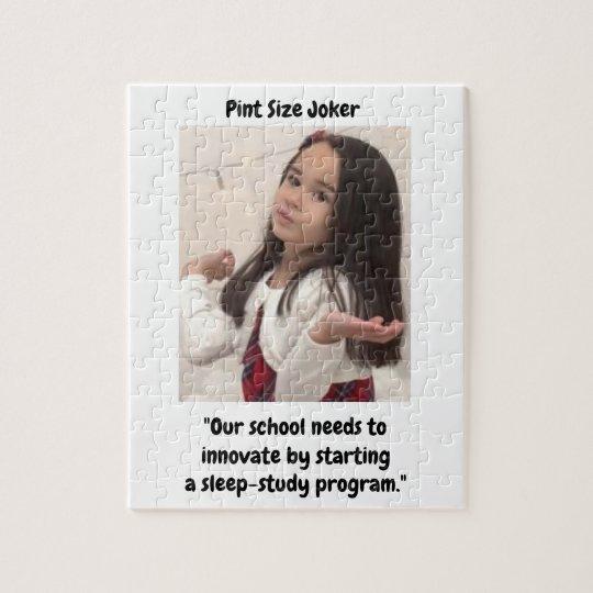 Pint Size Joker: School Sleep-Study Program Jigsaw Puzzle