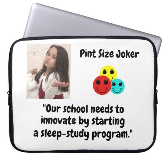 Pint Size Joker: School Sleep-Study Program Laptop Sleeve