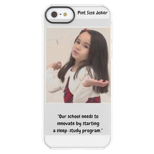 Pint Size Joker: School Sleep-Study Program Permafrost® iPhone SE/5/5s Case