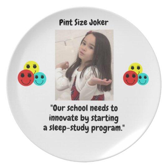 Pint Size Joker: School Sleep-Study Program Plate