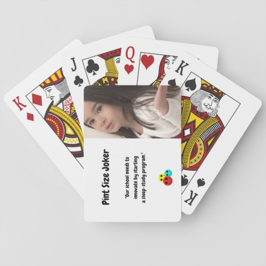 Pint Size Joker: School Sleep-Study Program Playing Cards