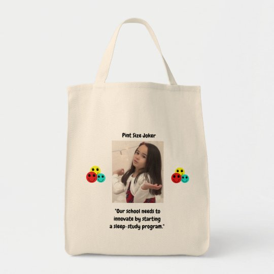 Pint Size Joker: School Sleep-Study Program Tote Bag