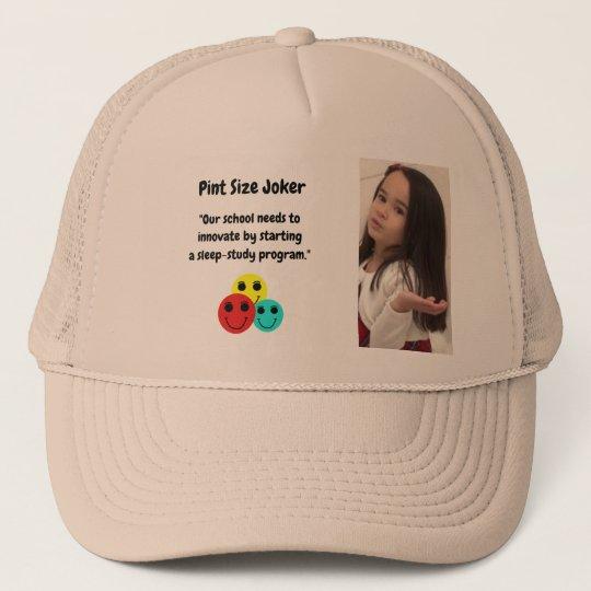 Pint Size Joker: School Sleep-Study Program Trucker Hat