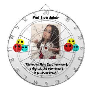 Pint Size Joker: Server Crashes And Homework Dartboard