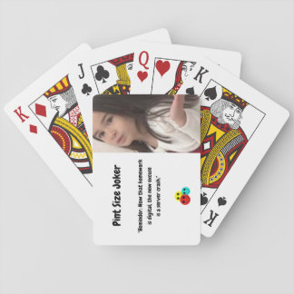 Pint Size Joker: Server Crashes And Homework Playing Cards
