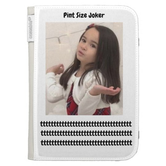 Pint Size Joker: Take Care Of My Allowance Kindle Cases