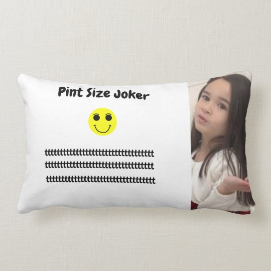 Pint Size Joker: Take Care Of My Allowance Lumbar Pillow