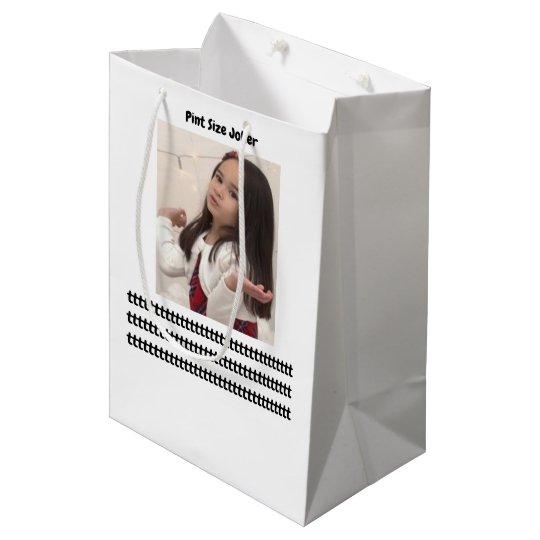 Pint Size Joker: Take Care Of My Allowance Medium Gift Bag