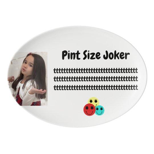 Pint Size Joker: Take Care Of My Allowance Porcelain Serving Platter