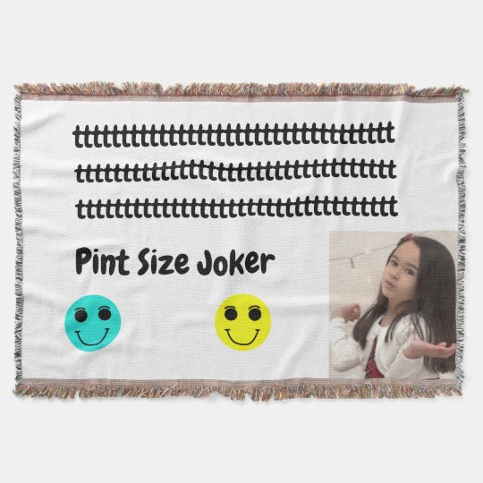 Pint Size Joker: Take Care Of My Allowance Throw Blanket