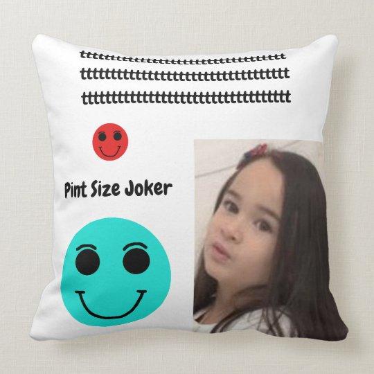 Pint Size Joker: Take Care Of My Allowance Throw Pillow