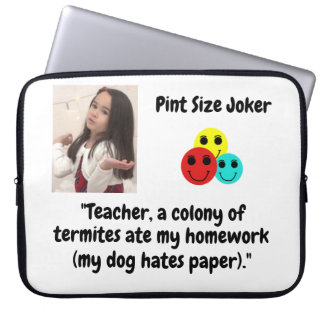 Pint Size Joker: Termites, Dogs, And Homework Laptop Sleeve