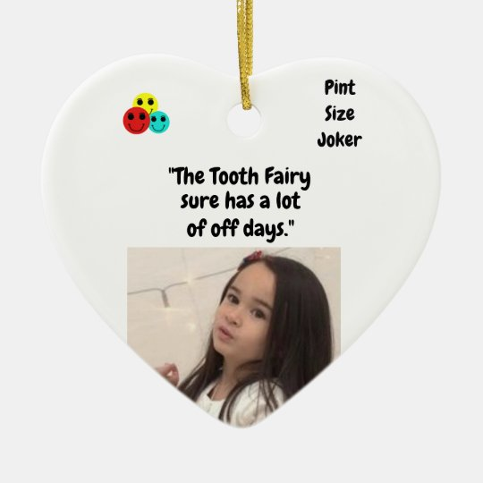 Pint Size Joker: Tooth Fairy And Off Days Ceramic Ornament