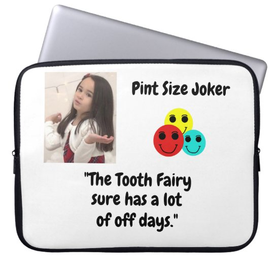 Pint Size Joker: Tooth Fairy And Off Days Laptop Sleeve