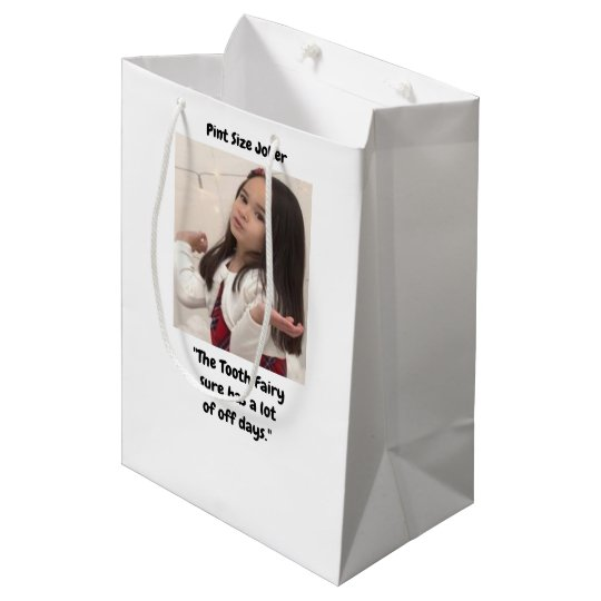 Pint Size Joker: Tooth Fairy And Off Days Medium Gift Bag