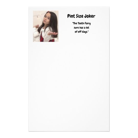 Pint Size Joker: Tooth Fairy And Off Days Stationery