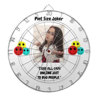 Pint Size Joker: Use All Caps To Bug People Dartboard
