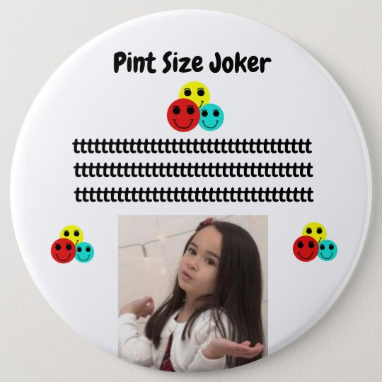 Pint Size Joker: Young And Wise 6 Inch Round Button