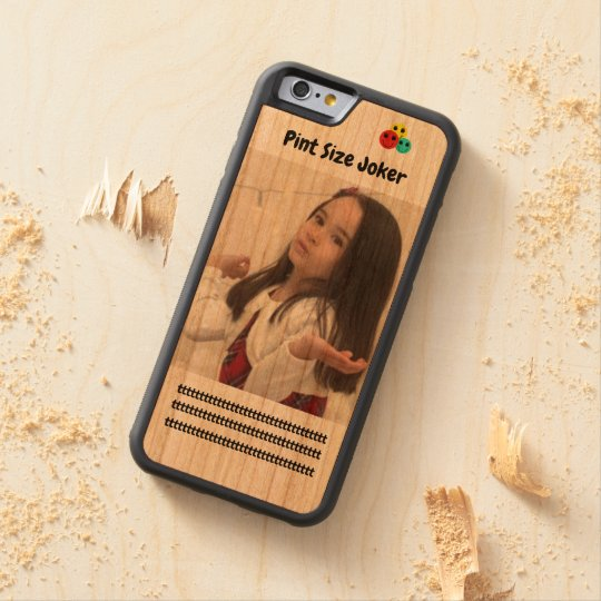 Pint Size Joker: Young And Wise Carved Cherry iPhone 6 Bumper Case