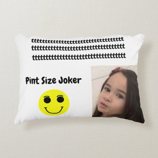 Pint Size Joker: Young And Wise Decorative Pillow