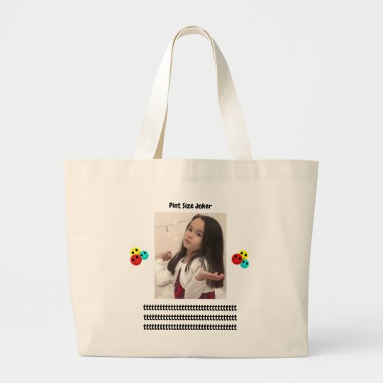 Pint Size Joker: Young And Wise Large Tote Bag
