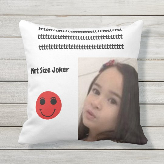 Pint Size Joker: Young And Wise Outdoor Pillow