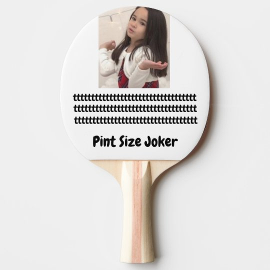 Pint Size Joker: Young And Wise Ping Pong Paddle