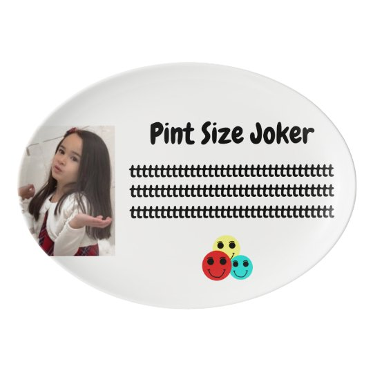 Pint Size Joker: Young And Wise Porcelain Serving Platter