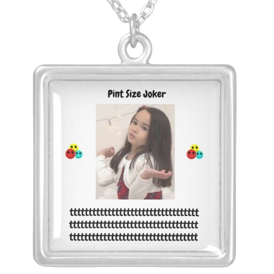 Pint Size Joker: Young And Wise Silver Plated Necklace