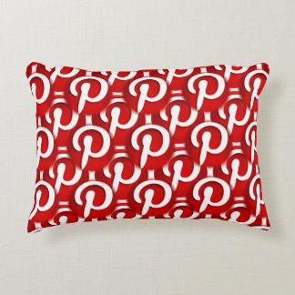 Pinterest Icon Decorative Pillow