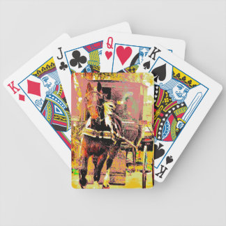 Pinto Amish Horse 8-Bit Art Bicycle Playing Cards
