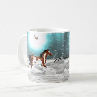 Pinto Arabian Horse Christmas Coffee Mug