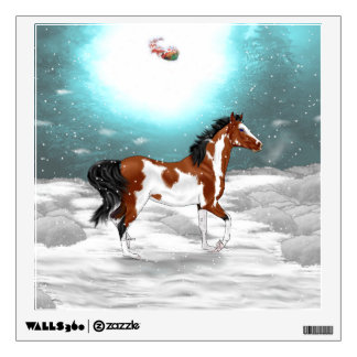 Pinto Arabian Horse Christmas Wall Decal