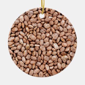 Pinto beans ceramic ornament