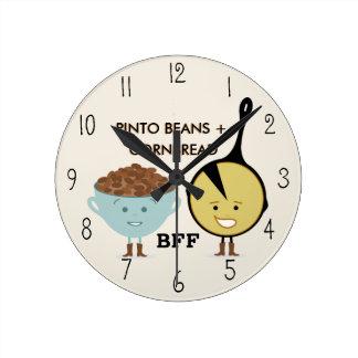 Pinto Beans & Cornbread Best Friends Clock
