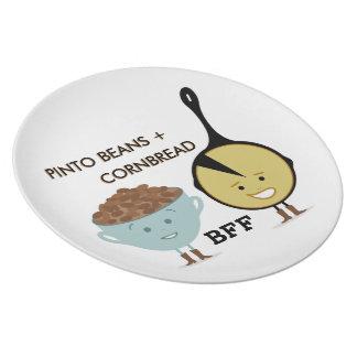 Pinto Beans + Cornbread BFF Melamine Plate