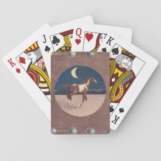Pinto colt in the moonlight playing cards