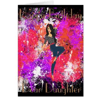 PINUP 1  DAUGHTER GREETING CARD